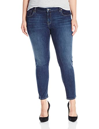 2eb74430a2d Lucky Brand Women s Plus Size Mid Rise Ginger Skinny Jean in Barrier ...