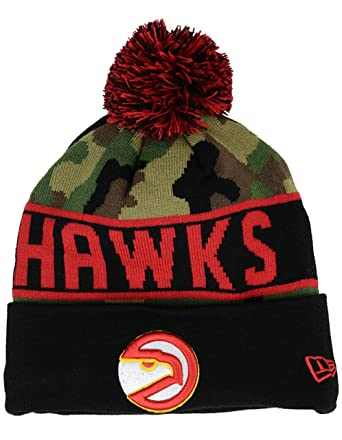 separation shoes ff77e 0c476 Atlanta Hawks New Era NBA HWC Knit Pom Beanie Cap Hat  quot Jake Camo quot