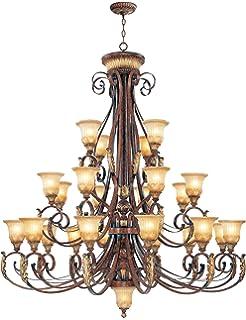 Amazon.com: livex iluminación 8569 Villa Verona 22 Luz 3 ...