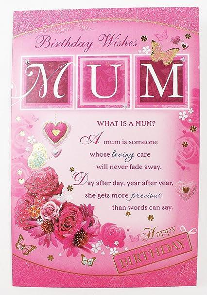 Mamá feliz cumpleaños deseos tarjeta tradicional luxury Cute ...