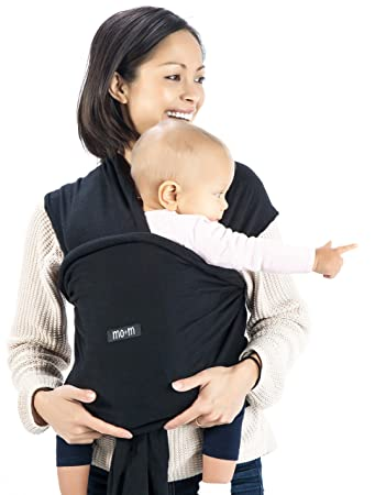 3ee22afc390 Amazon.com   Mo+m Baby Wrap (Black) - Ultra Soft Infant Sling Child ...
