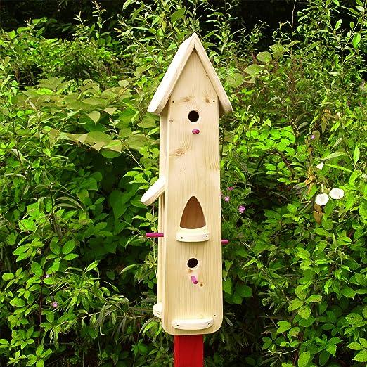 Original Vogelliebe Casa de pájaros, Nido pájaro Villa, Comedero para Construir, Decorativa, Pájaro Pajarera casa de pájaros, casa para Pintar, Jardín Montar: Amazon.es: Jardín