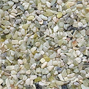 "Midwest Hearth Natural Decorative Jade Bean Pebbles 1/5"" Size (2-lb Bag)"