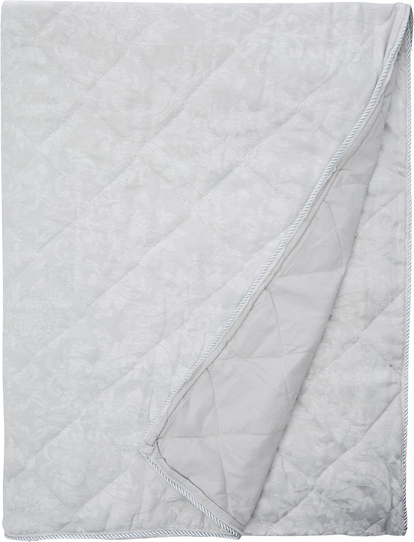 66 Larghezza x 72 Goccia Laurent Serene Argento Tende a matita foderate Jacquard damascate con tiranti 168 x 183 cm