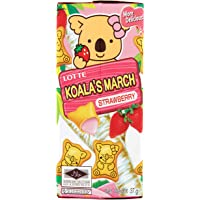 Lotte Koala's March Strawberry Cream Filled Cookies, 37 g