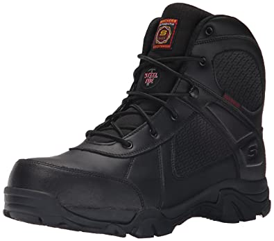 Amazon.com | Skechers for Work Men's Grahn Steel Toe Work Boot ...