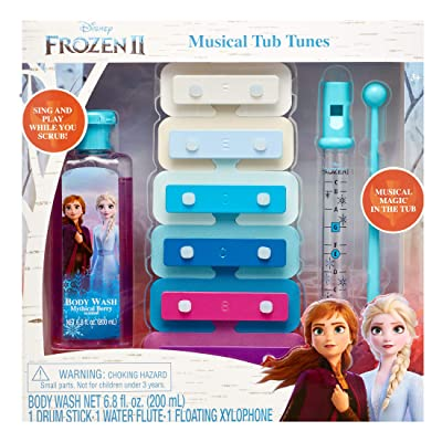 Centric Beauty Frozen 2 Musical Tub Tunes Floating Xylophone, Water Flute, Drum Stick: Toys & Games