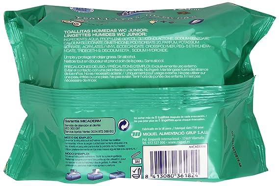 Mica Derm - Toallitas Húmedas - WC Junior - 120 unidades: Amazon.es: Alimentación y bebidas