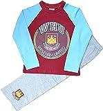 Boys West Ham United Football Club Long Pyjamas Sizes 4 to 12 Years