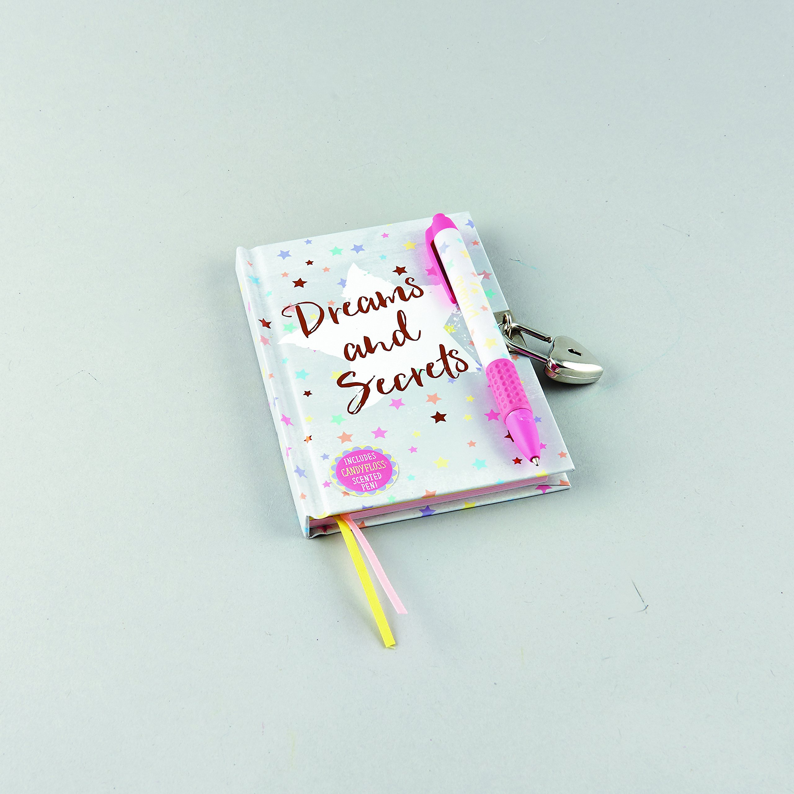 Floss & Rock Dreams & Secrets Lockable Diary With Snifty Scented Pen In Candy Floss