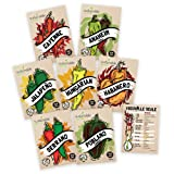 Hot Pepper Seeds Variety Pack - 100% Non GMO
