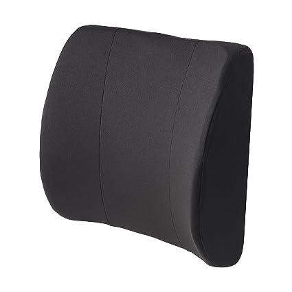 DMI 555-7302-0200 Relax-A-Bac - Cojín lumbar, color negro ...