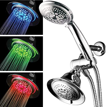 HotelSpa Twin Shower Combo with LED Lights