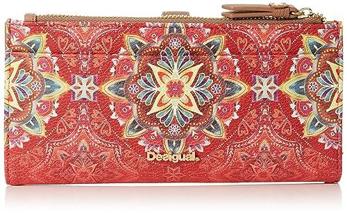Desigual - Mone_polaris_pia, Carteras Mujer, Rojo (Teja), 1.5x9.5x19