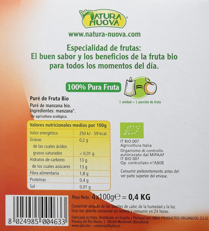 Natura Nuova Puré Fruta de Manzana - 8 paquetes de 400 gramos ...