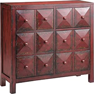 Stein World Furniture Maris Accent Cabinet, Vintage Red