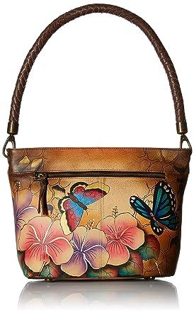 49656212d3d8 Anna by Anuschka Women's Genuine Leather Large Hobo Shoulder bag | Zip-Top  Organizer