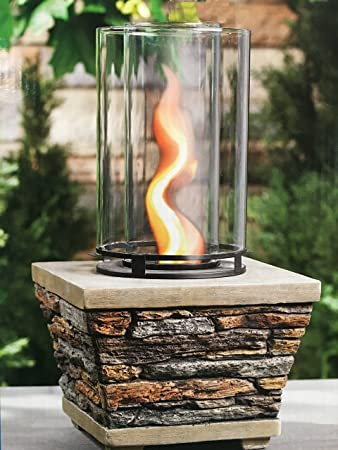 Buy Table Top Gel Fuel Vortex Fire Column Flame Burner - 18-in Outdoor Firepot Party: Gel & Ethanol Fireplaces - Amazon.com ? FREE DELIVERY possible on eligible purchases