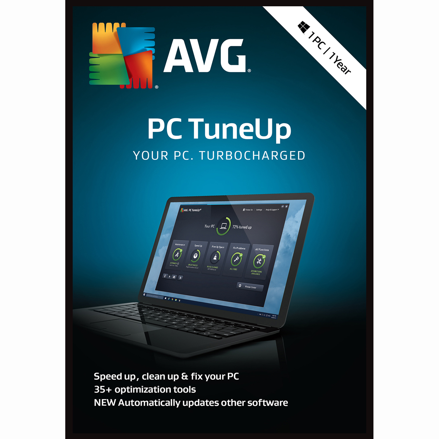 AVG PC TuneUp 2019, 1 PC 1 Year [Download] by AVG Technologies