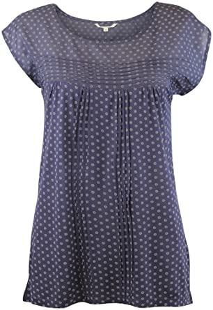 01012d0f400 EX White Stuff Ladies Womens Blue Ditsy Daisy Spot Dot Tunic Pleat Top  Blouse (8): Amazon.co.uk: Clothing