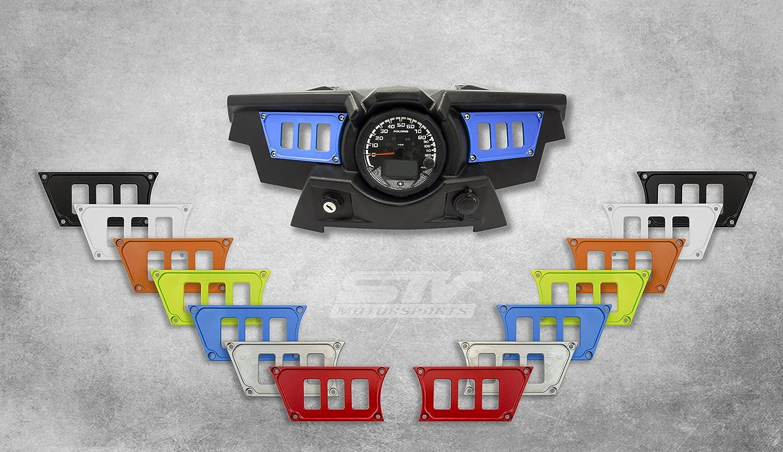 STVMotorsports Custom Aluminum Blue Dash Panel for 2015-2018 Polaris RZR XP 900 with 4 Free Rocker Switches