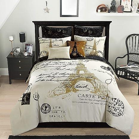 Amazon.com: Casa Paris Comforter Gold 8 piezas, 8: Home ...