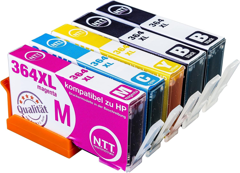 Ntt 5 Xxl Kompatible Druckerpatronen Als Ersatz Für Hp 364xl Hp 364 Hp364 Xl 364xl Multipack Photosmart 2x Schwarz 1x Cyan 1x Magenta 1x Yellow Bürobedarf Schreibwaren