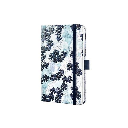 Sigel J9304- Agenda semanal 2019 Jolie, tapa dura, 9,5 x 15 cm, diseño floral azul oscuro