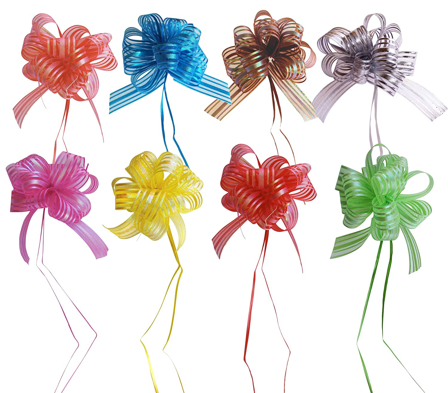 Set of 8 Elegant Pull Bows with 35