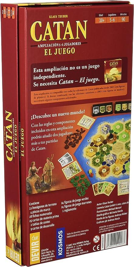 Devir - Catan, juego de mesa - Ampliación para 5 y 6 Jugadores ...