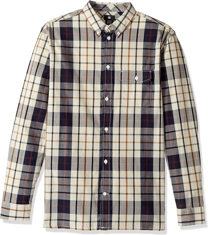 DC Mens Atura Long Sleeve Plaid Shirt