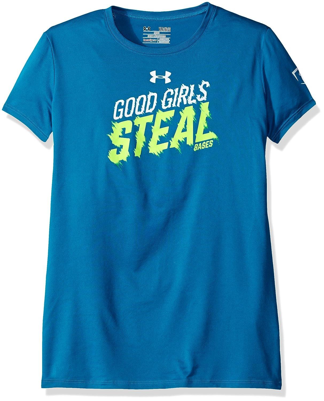 アンダーアーマーガールズGirls Steal Bases Tシャツ B018VAAGF4 Youth Small|Teal Blast/Fuel Green Teal Blast/Fuel Green Youth Small