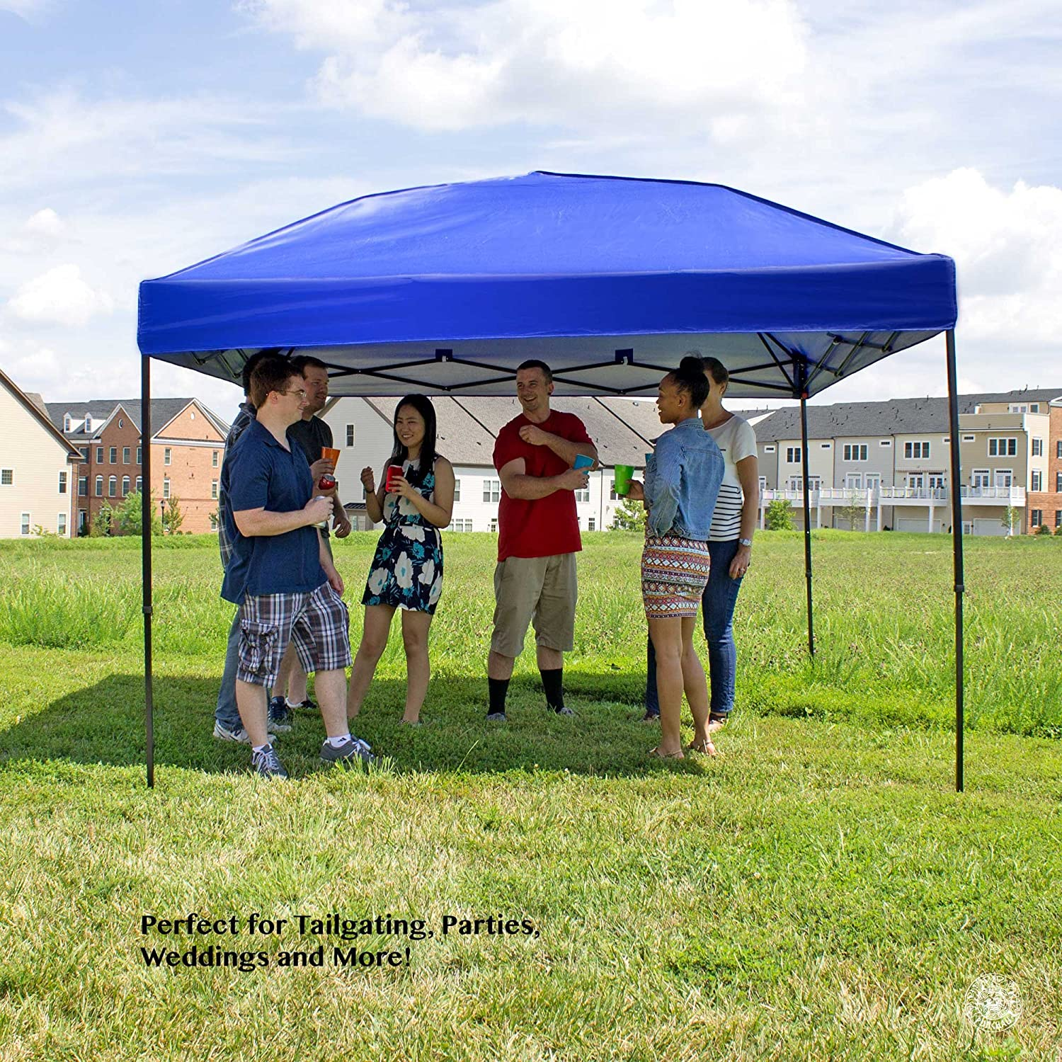 Amazon.com Pop Up Canopy Tent 10 x 10 Feet Blue - UV Coated Waterproof Outdoor Party Gazebo Tent Garden u0026 Outdoor & Amazon.com: Pop Up Canopy Tent 10 x 10 Feet Blue - UV Coated ...