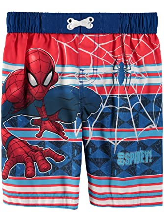 d8d8b096ff Spiderman Marvel Toddler Boys Swim Trunks Bathing Suit - Red - 2 Years:  Amazon.co.uk: Clothing