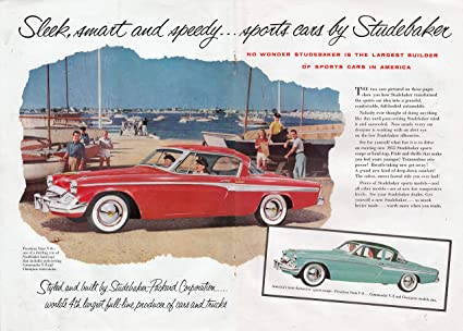 Shipping A Car/page/2 >> Amazon Com 1955 Studebaker President Sport Car V 8 Red 2