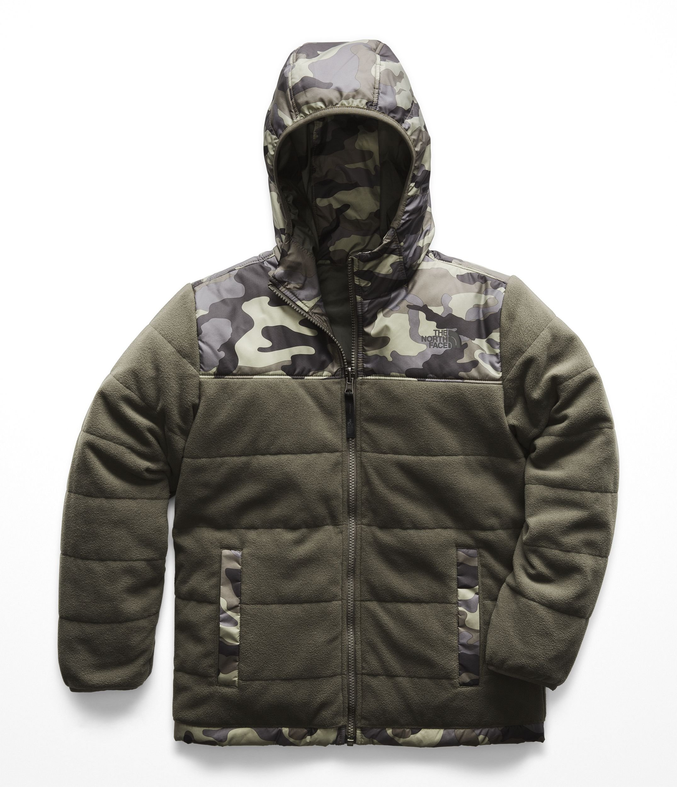 The North Face Kids Boy's Reversible True or False Jacket (Little Kids/Big Kids) New Taupe Green XX-Small