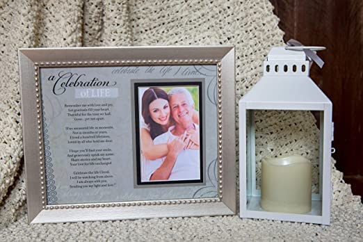 Amazon.com - Memorial/Remembrance Photo Frame With Inspirational A Celebration Of Life Poem -