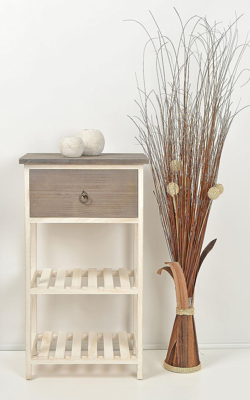 legno ts-ideen GmbH Tavolo d/'appoggio Tavolino da salotto Commodino con cassetto bicolore