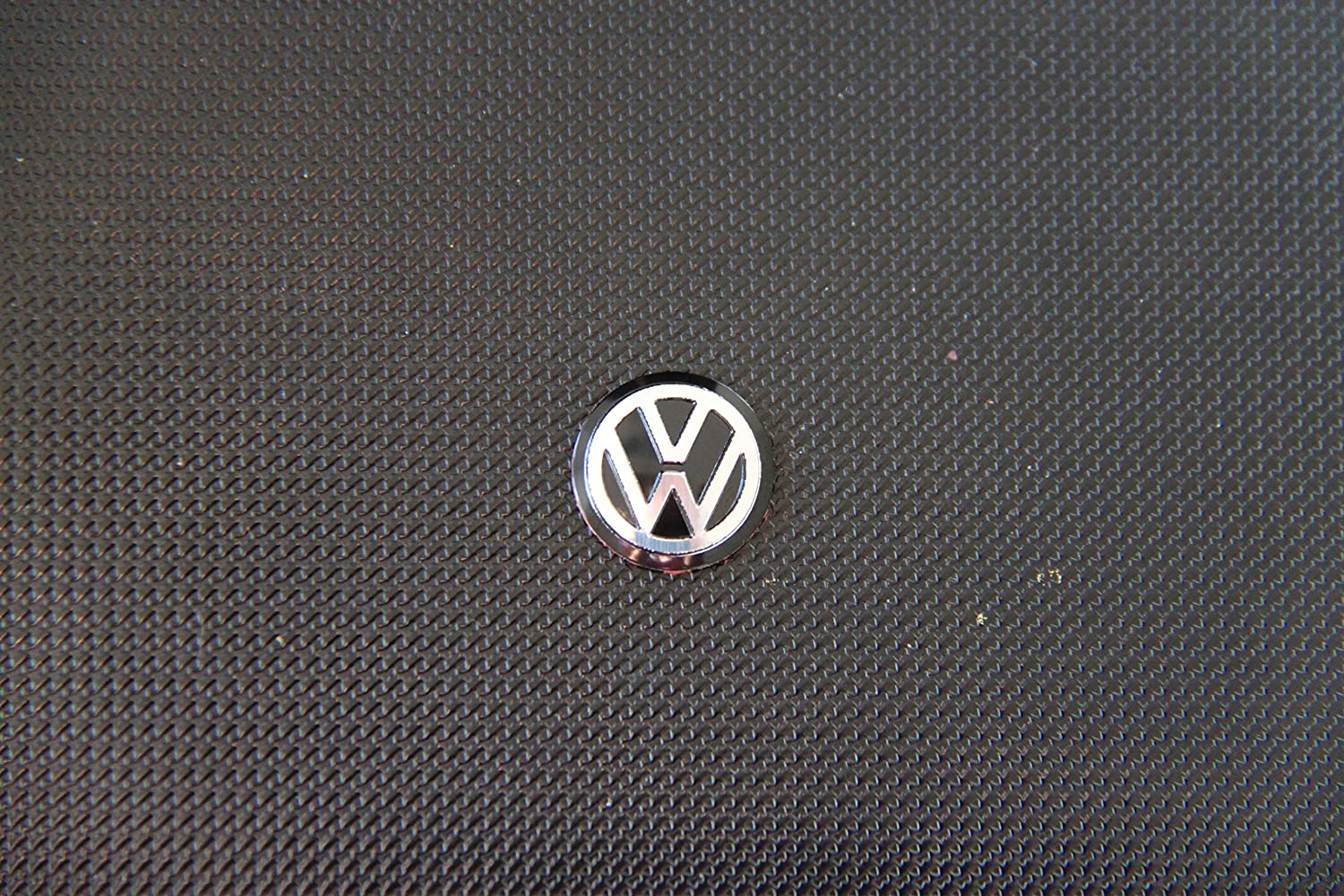 Four vw key fob metallic badge logo stickers  blue //white  14mm