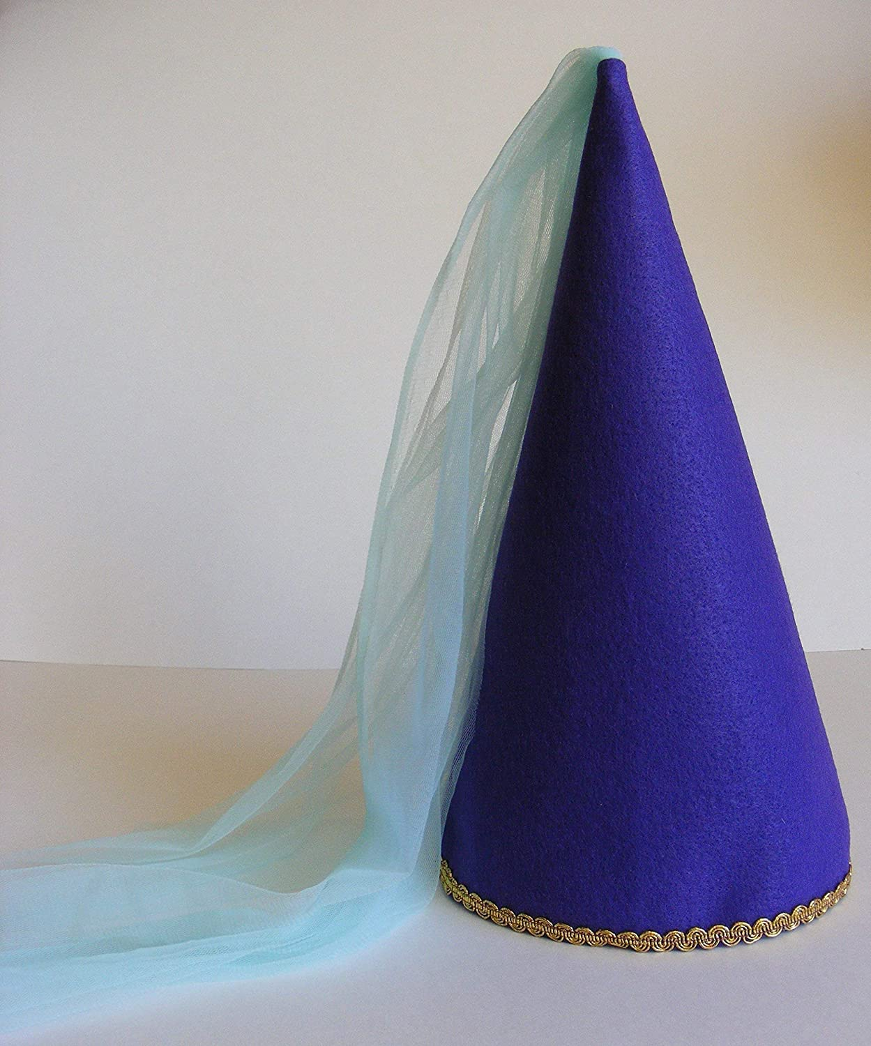 Girls Princess Cone Hat Princess Veil Hat Dress-up Play