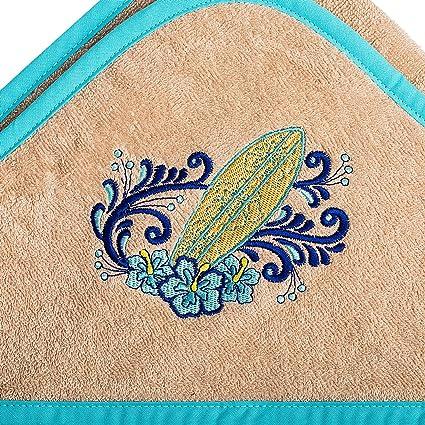 """Toalla de rizo con capucha 100x100 """"Surf Blossom"""" Toalla de baño de algodón"""