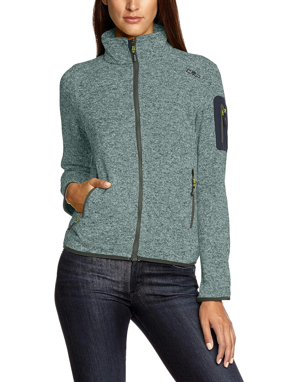 L Donna Kaky//Opale Verde CMP Pile Knit Tech 3H14746