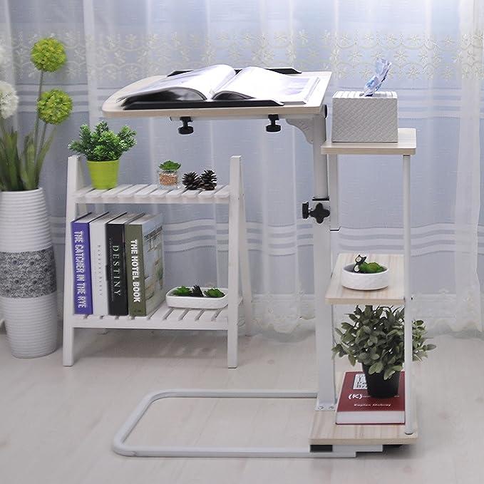 Amazon.com: UNICOO - Height Adjustable Laptop Cart Overbed ...