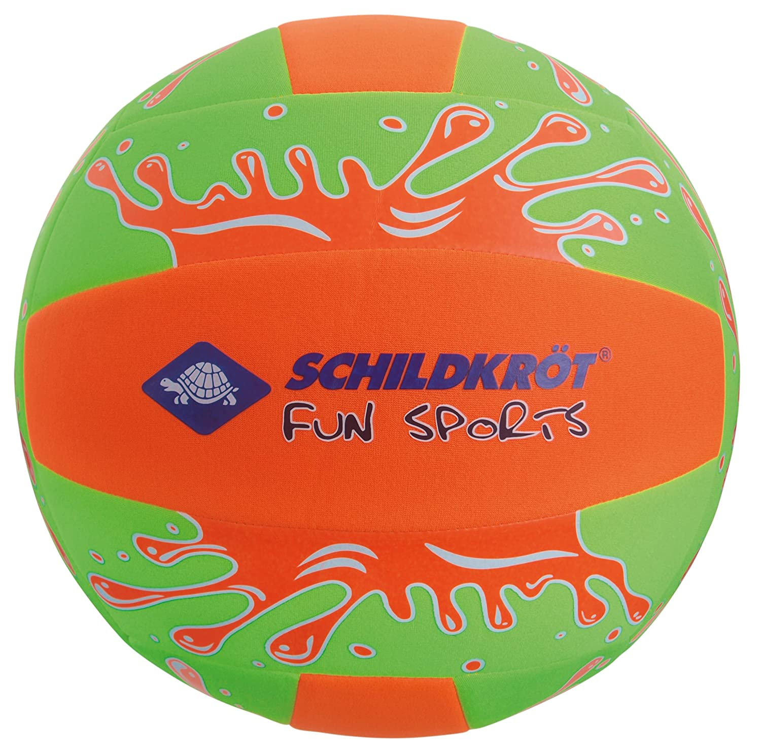 Schildkröt Funsports SCHILDKRÖT FUN SPORTS NEOPRENE Beach Ball XL, 35cm, neon- Grün/Orange 970189