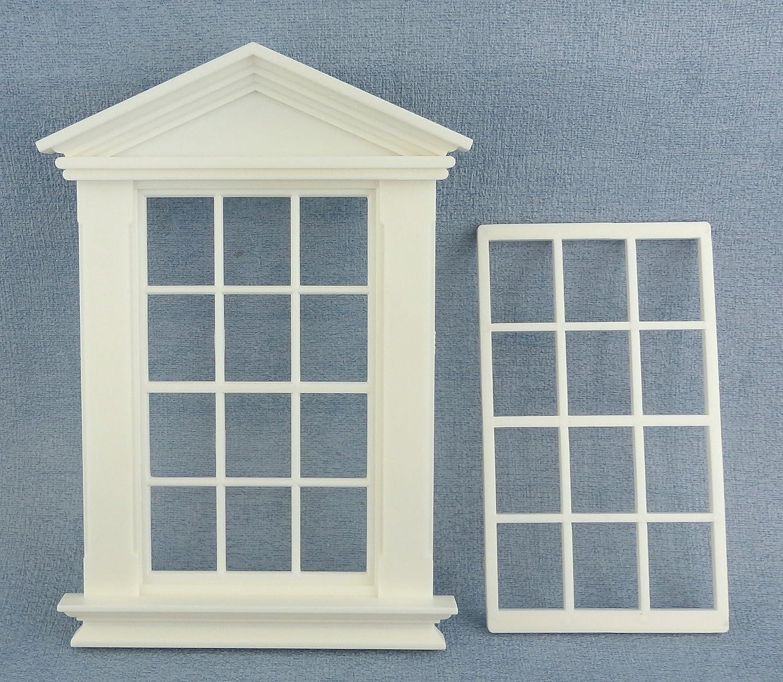Melody Jane Dolls House White Plastic Georgian Window Frame 12 Pane 1:12 Scale DIY Builders