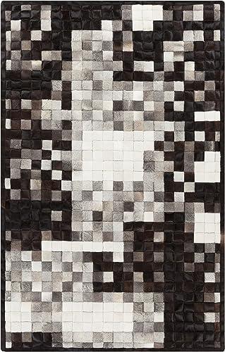 Surya Paint Area Rug, 8 x 10 , Black Gray Ivory