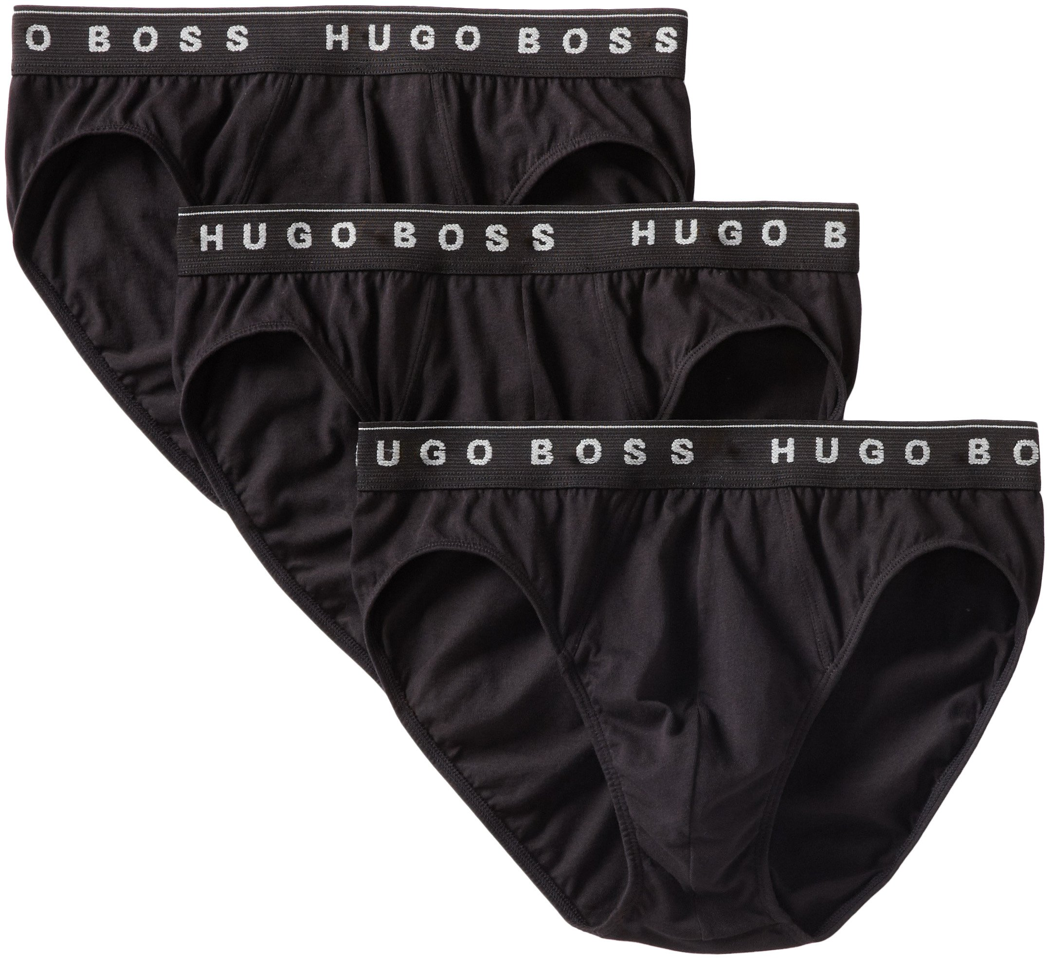 Hugo Boss BOSS Men's Cotton 3 Pack Mini Brief, Black, Medium