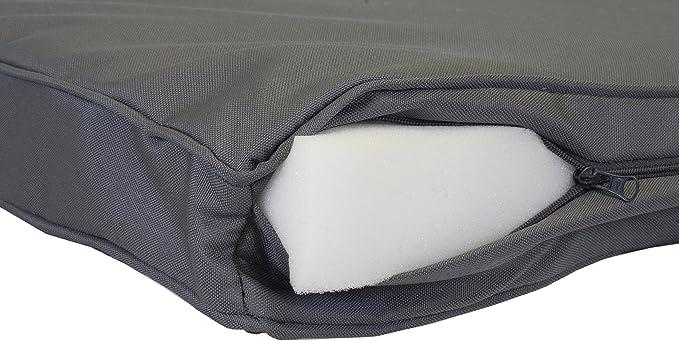 Premium Lounge del amortiguador de asiento fijó para grupos de ratán jardín Mónaco 8 colchón extraíble 100% de poliéster resistente al agua con referencia ...