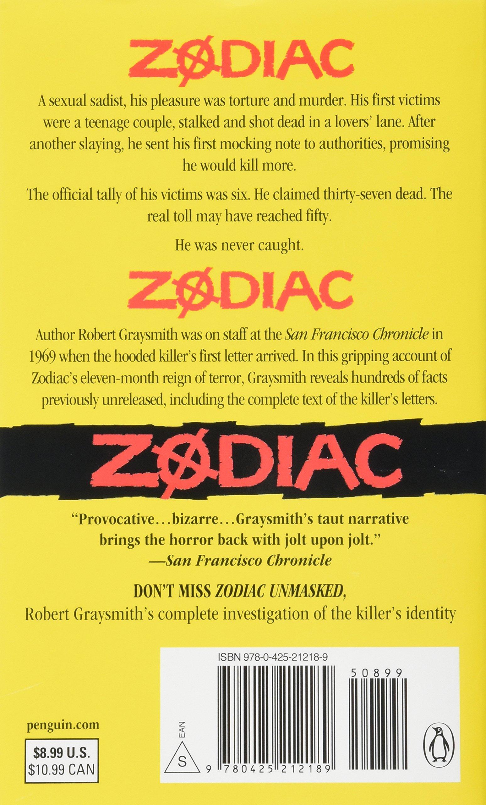 Graysmith zodiac book robert