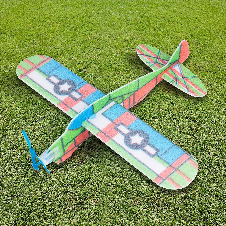 Alianti Aeroplani Gliding Polistirolo Styrofoam per Bambini Gadget per Una Festina Comius 24 PCS Aeroplani Giocattolo